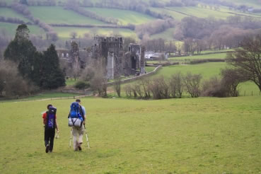 Heading into Llanthony