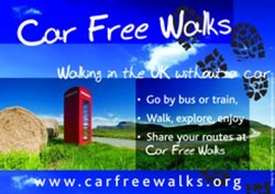 Car Free Walks A4 landscape poster